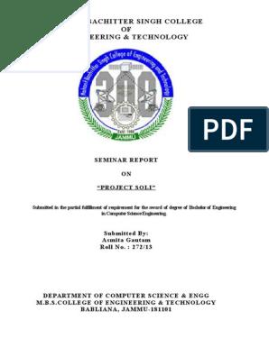 project soli seminar report docx   Radar   Electronics