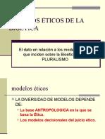MODELOS ÉTICOS DE LA BIOÉTICA