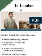 Rizal in London. Reporting