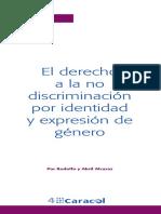 Abril y Rodolfo Alcaraz - El Derecho a La No Discriminacion Por Identidad y Expresion de Genero
