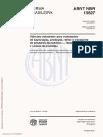 NBR15827 - 03.2011 - Válvulas Industriais Para Instalações