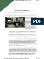 Cáncer  La OMS declara cancerígena la carne procesada   Ciencia.pdf