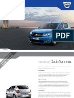 Dacia Sandero Brochure October 2012