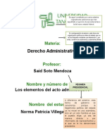 Derecho Elementos Acto Administrativo