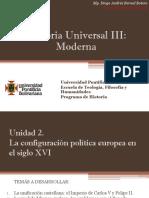 Unidad 2 La Configuración Política Europea en El Siglo XVI