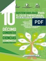 Programa 10º Congreso Internacional de Ciencias Económicas