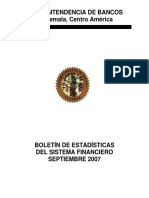 09 Boletín Mensual de Estadísticas Septiembre 2007