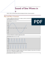 Graph and Sound of Sine Waves in Mathematica