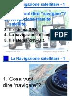 1. La Navigazione Satellitare