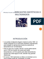 Aceites Lubricantes Sintéticos o Multigrados