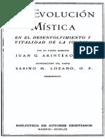 Evolucion Mistica P. Arintero (Separata)