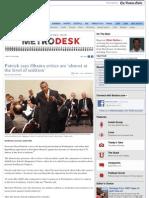 Governor Deval Patrick Calls GOP Seditious