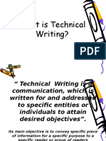 1.Nature of Tech'l Writing
