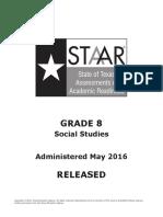 Released STAAR 2016 Questions