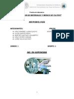 practica medios de cultivo aga dextrosa, nutritivo, mac conkey y saboraud