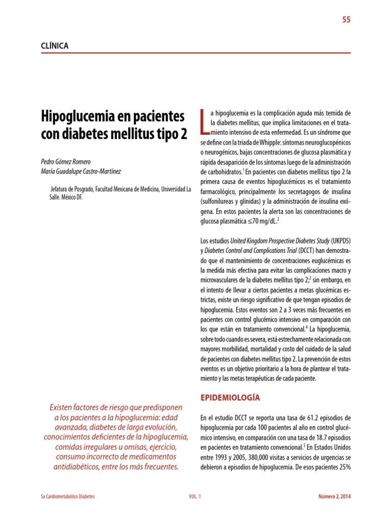 factores de riesgo asociados con hipoglucemia sintomática en pacientes con diabetes mellitus tipo 2