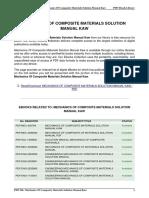 Mechanics of Composite Materials Solution Manual Kaw