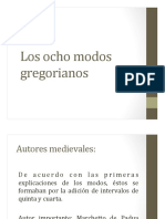 LM III (PUJ) Modos Gregorianos. Resumen