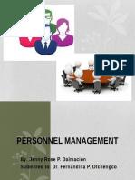 Personnel Management (Jenny Rose p. Dalmacion)