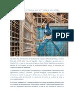 La Seguridad y Salud en El Trabajo en Cifras