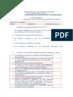 Evaluación I II III