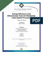 Energy Efficiency Cost Effectivness Test