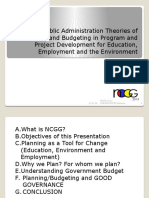 Applying Public Administration Theories of Planning and Budgeting
