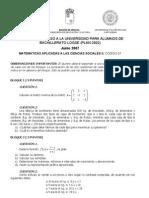 PAU Murcia Matemáticas CCSS 06/07