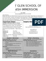 kindergarten newsletter 16-9-19