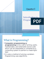 Quarter IA - Programming