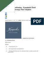 Marketing Positioning Kempski Hotel
