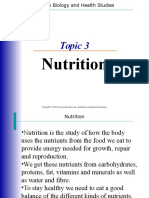 Human Biology ppt. Nutrition