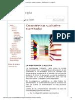 Características Cualitativa-cuantitativa - Metodología de La Investigación
