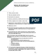 Trabajo -Estructura Del Manual de Calidad