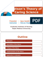 Watson's Theory of Caring Science