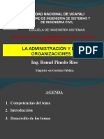 Semana 1 La Administración y las Organizaciones