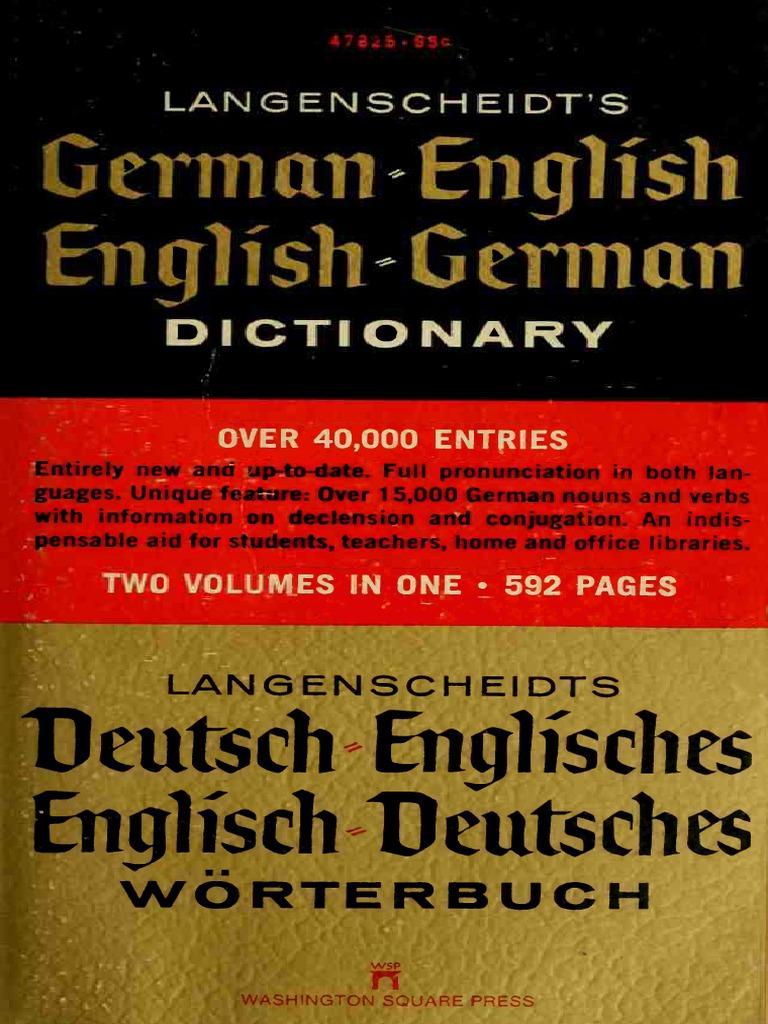 Langenscheidt\'s German-English, English-German Dictionary (1970 ...