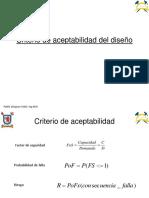 Criterios de Aceptabilidad, geomecanica