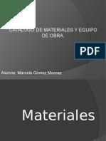 Catalogo de Materiales y Equipo de Obra