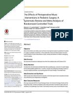 TheEffectsofPerioperativeMusic InterventionsinPediatricSurgery:A SystematicReviewandMeta-Analysisof RandomizedControlledTrials