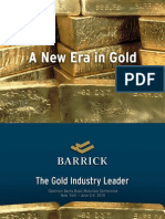 Barrick Gold • Goldman Sachs Basic Materials Conference 2010
