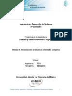 Introduccion Al Analisis Orientado a Objetos