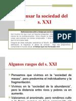 PENSAR LA SOCIEDAD DEL S. XXI