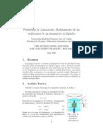 Modelamiento de Las Oscilaciones de Un Densimetro en Liquidos