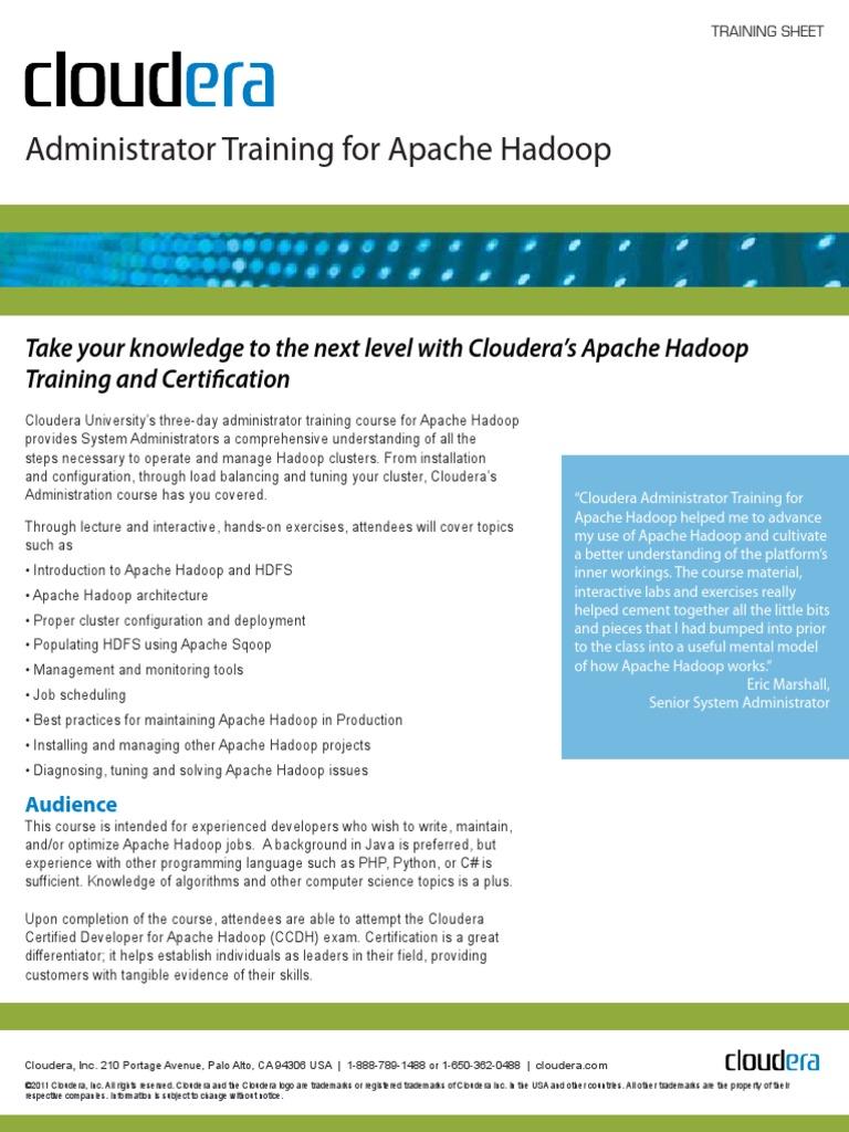 213225820 Cloudera Administrator Training For Apache Hadooppdf