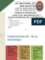 DIRECCION, IMPLEMENTACION Y PUESTA EN MARCHA DE LA ESTRATEGIA.pptx