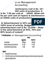 Management Accounting Problems
