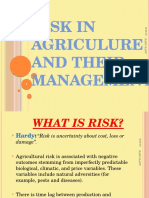 Agricutural risk and thier managenent