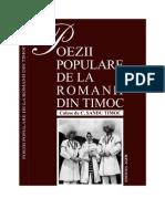 Poezii Populare de La Romanii Din Timoc