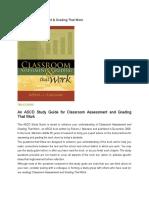 Classroom Assessment (Marzano, 2006).docx